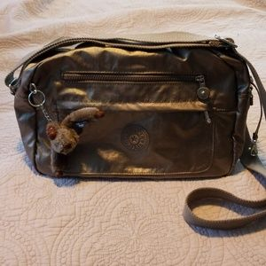 Kipling metallic messenger bag